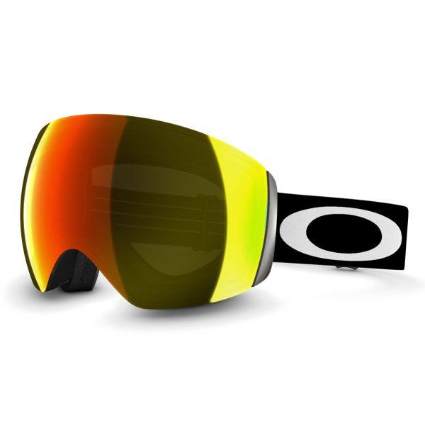 Oakley Flight Deck 59 709 Matte Black wFire Irid skibril goggle